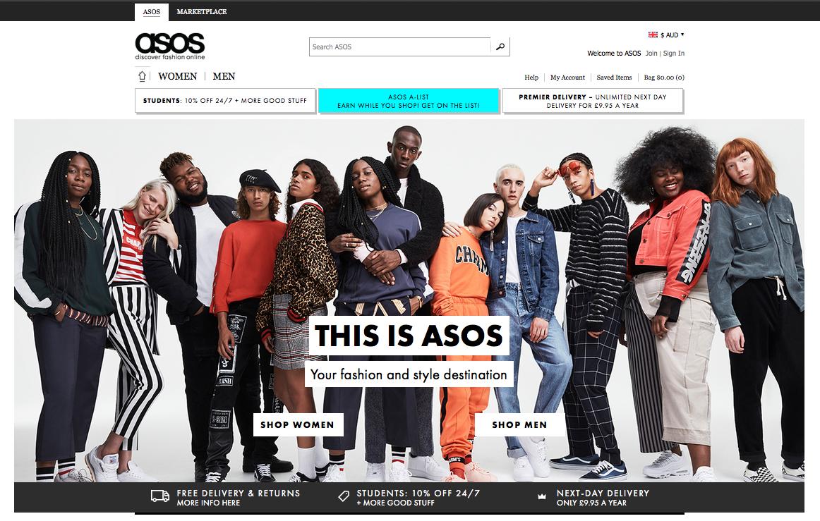 فروشگاه اینترنتی ASOS